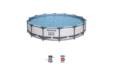 14ft Steel Pro Max Round Pool Set