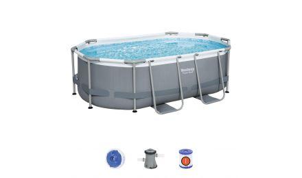 10ft Power Steel Oval Pool Set
