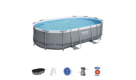 16ft Power Steel Oval Pool set
