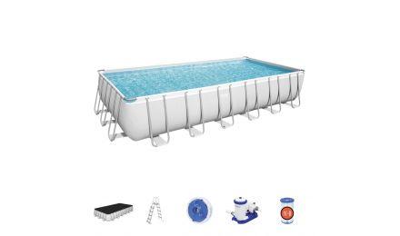 24ft Power Steel Rectangular Pool set