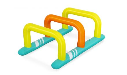 Hop Zone Inflatable Kids Sprinkler and Obstacle Course