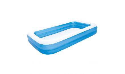 """120"""" Blue Rectangular Family Pool"""