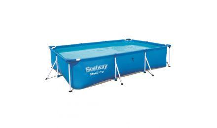 "9ft 10"" Steel Pro Rectangular Pool set"