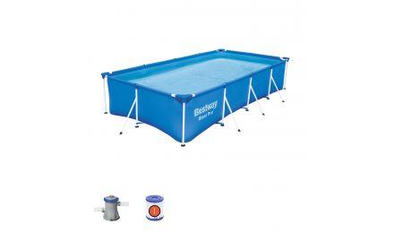 "13ft 1"" Steel Pro Rectangular Pool set"