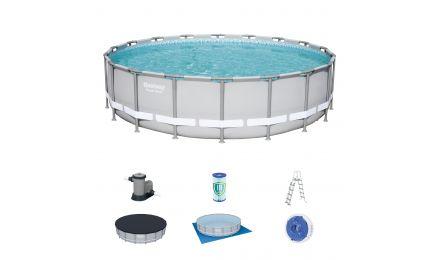 18ft Power Steel Round Pool set