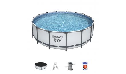 15ft Steel Pro Max Round Pool Set