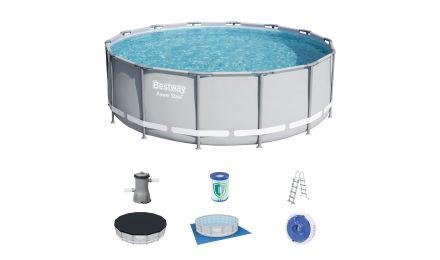 14ft Power Steel Round Pool set