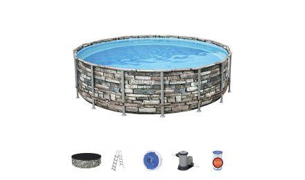 16ft Power Steel Pool Round Set