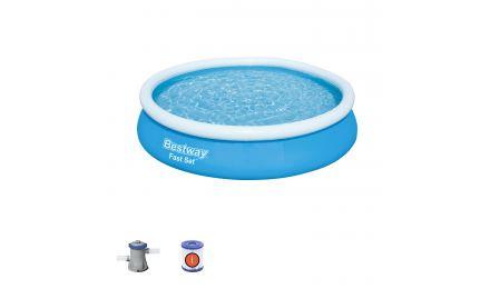 12ft Fast Set Round Pool Bundle