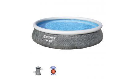 13ft Fast Set Rattan Inflatable Pool