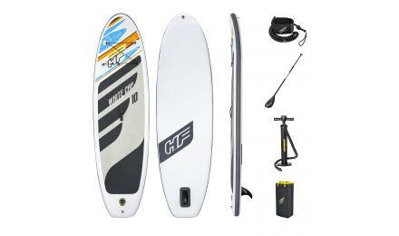 10ft Hydro-Force Paddle Board White Cap SUP Set