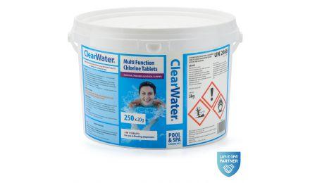 ClearWater 5kg Multifunctional Chlorine Tablets