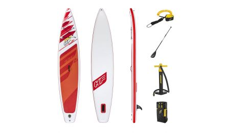 """12ft 6"""" Hydro-Force Paddle Board Fastblast Tech SUP Set"""