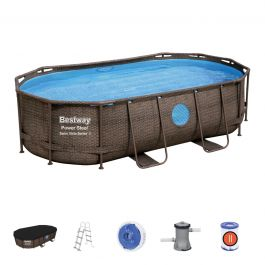 14ft Power Steel Swim Vista Oval Pool Set