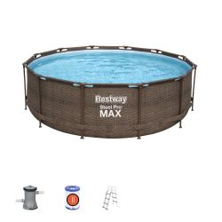 12ft Steel Pro Max Deluxe Series Round Pool Set