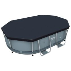 """9'10"""" PVC Pool Cover for Steel Oval Pools"""