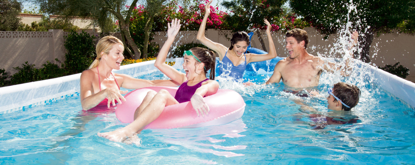 Enjoying our pools